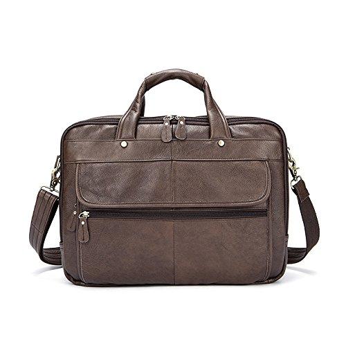 handbag negocio brown shoulder Men single bag vintage 's qXXpvwY