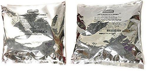 - Textured Vegetable Protein TVP In One Pound Bags (Bundle of 1 LB Chicken Flavor/1 LB Beef Flavor)