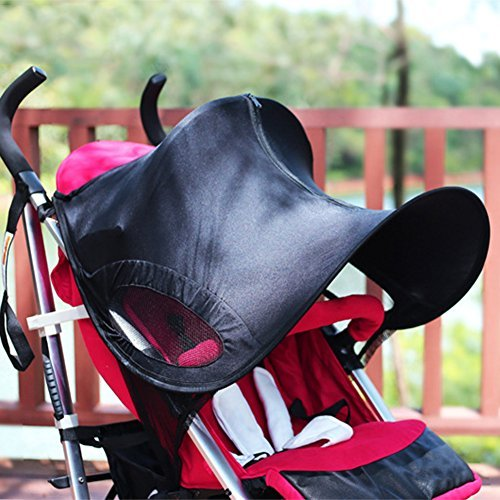 Whitelotous Universal Folding Baby Stroller Sunshade Baby Trolley Cover Net Awning Accessories by Whitelotous
