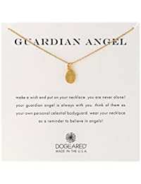 Dogeared 'Guardian Angel' Charm Bead Chain Necklace