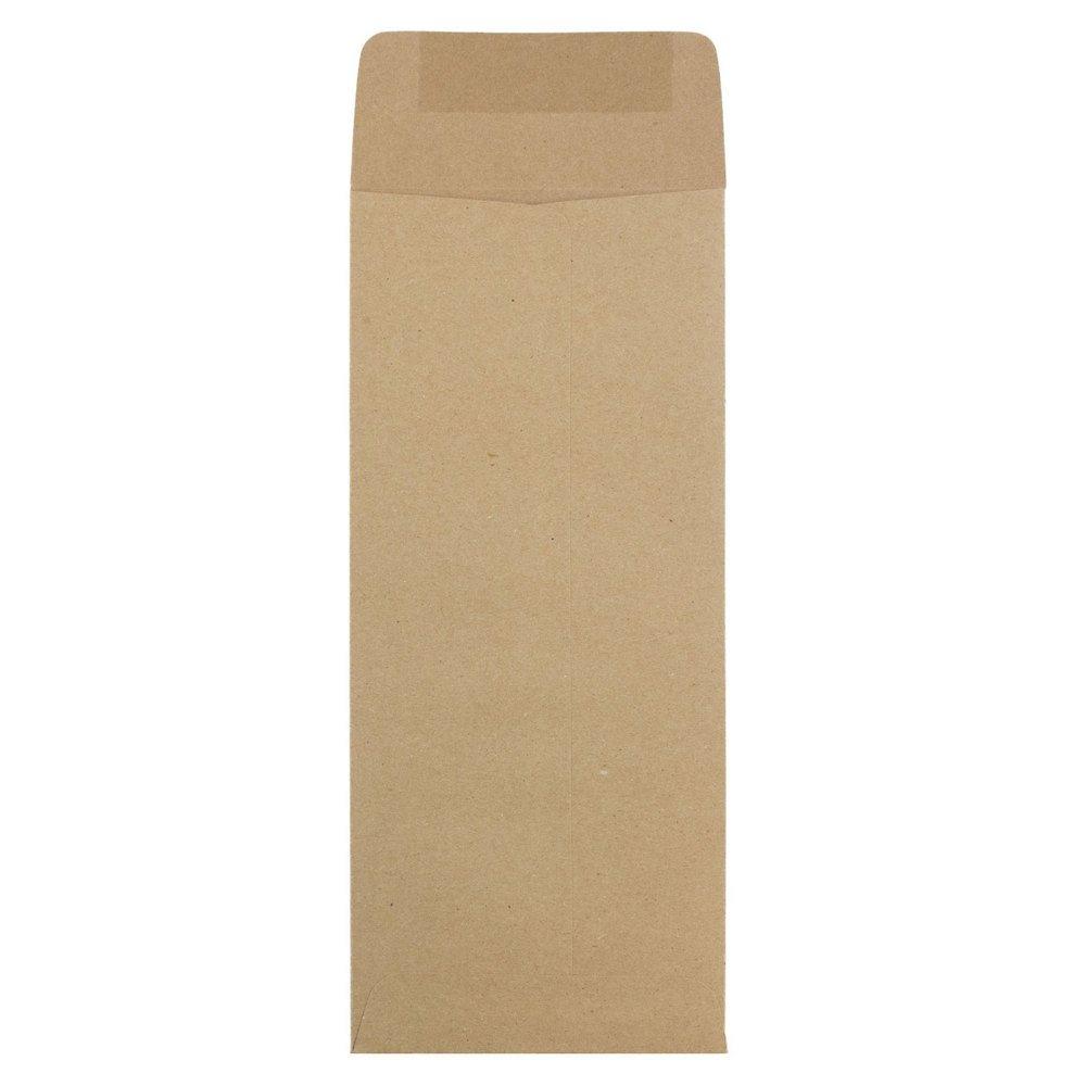JAM PAPER #12 Policy Business Premium Envelopes - 4 3/4 x 11 - Brown Kraft Paper Bag - 25/Pack by JAM Paper (Image #3)
