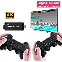 Donlov 4K TV Game Console Wireless Controller Support CPS PS1 Classic Games 1000 in 1