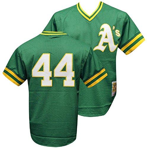 Mitchell & Ness Men's Oakland Athletics 1987 Reggie Jackson Small Green (Jackson Shirts Reggie)