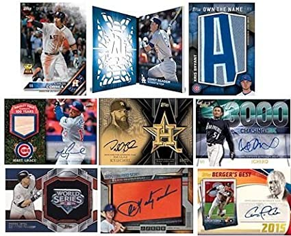 Release Date: 6//15//16 10 Packs of 47 Cards- 1 Autograph and 2 Relics Per Box 2016 Topps Series 2 Baseball Jumbo HTA Box