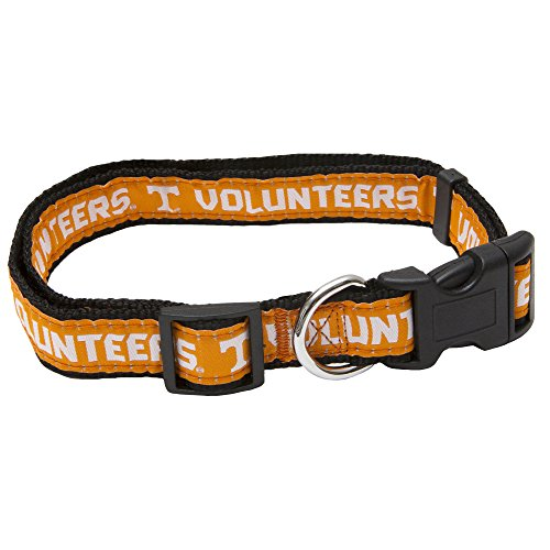 - Pets First Collegiate Pet Accessories, Dog Collar, Tennessee Volunteers, Large