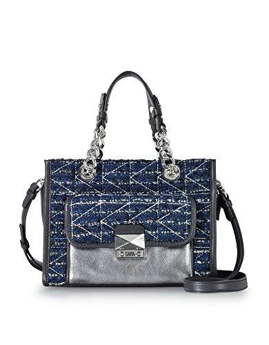 Karl Lagerfeld Borsa A Spalla Donna 76KW3077NIGHTSKY Pelle Blu