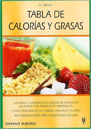 Tabla de calorías y grasas (Tablas de alimentos): Amazon.es: Ulrich Klever: Libros