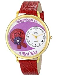 Whimsical Watches Unisex G0470007 Red Hat Red Leather Watch