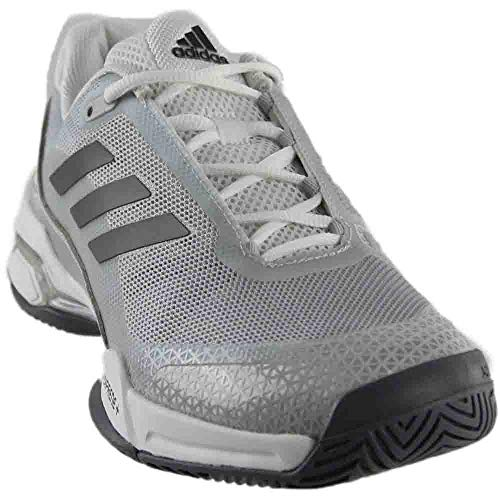 adidas Barricade Club Mens Tennis Shoe 4.5 Night Met-White-Black (Junior Tennis Player)