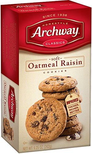Archway Cookies, Soft Oatmeal Raisin, 9.25 Ounce (Pack of 9) (Cookie Recipes Raisin)