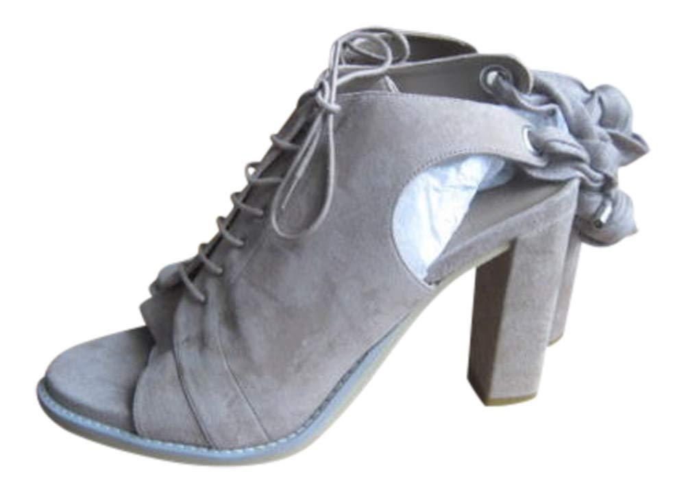 Brunello Cucinelli Women's Suede Lace Sandals Size 41 11 Tan