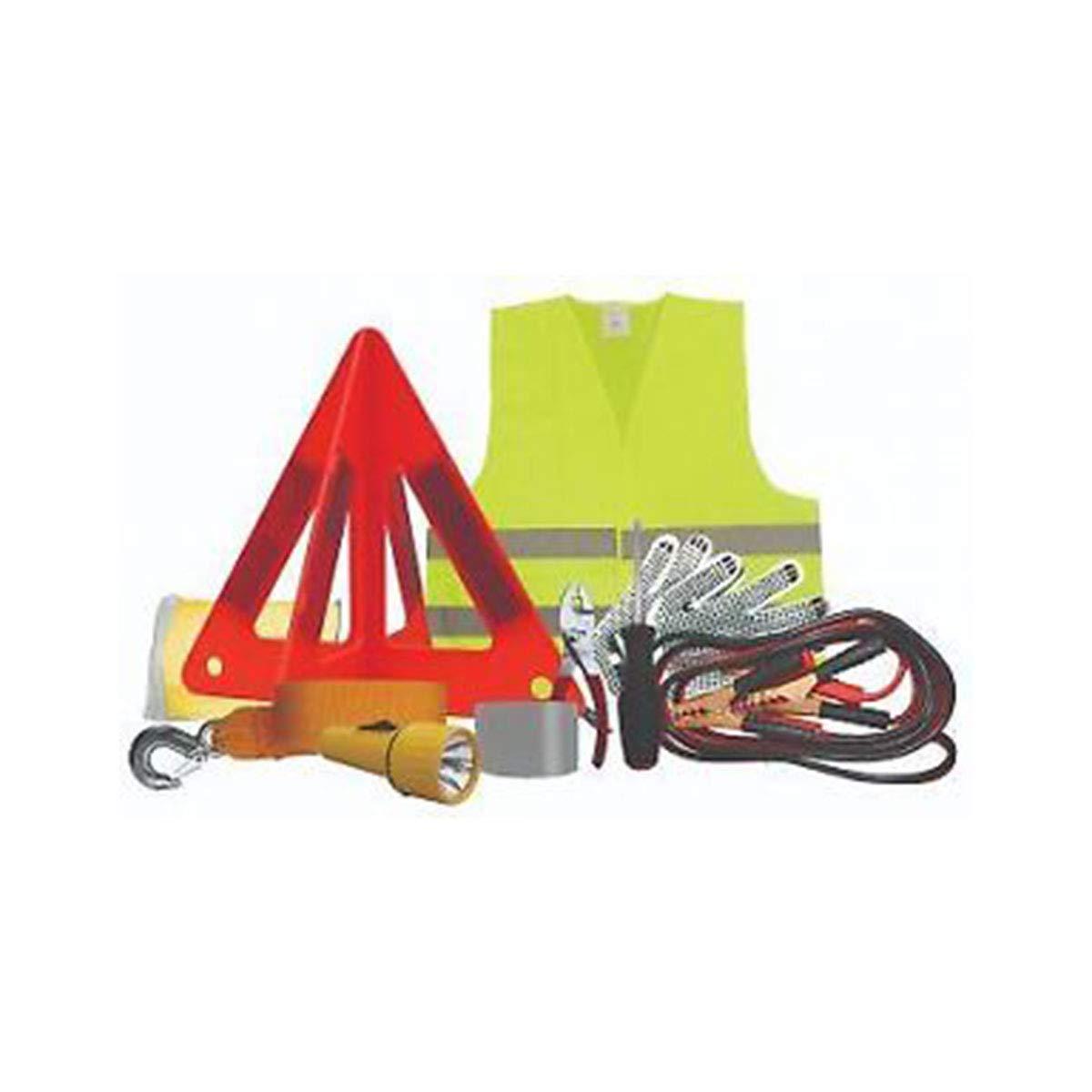 Poncho de Pluie Brookstone Grand kit durgence pour Voiture de Secours Gants Booster Jumper Cable 22 pi/èces Triangle durgence Cordon /élastique