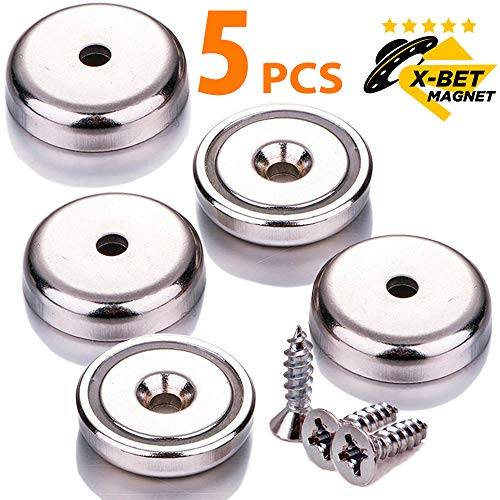 - X-bet MAGNET TM Neodymium Disc Countersunk Hole Magnets - 1.26