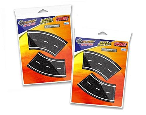 "PlayTape 2"" Broad Curves - 2 Packs of 4  – Road Car Tape"