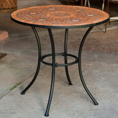 Terra Cotta Bistro Table - Coral Coast Terra Cotta Mosaic Bistro Table