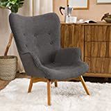 Christopher Knight Home 297014 Hariata Arm Chair, Muted Dark Gray For Sale