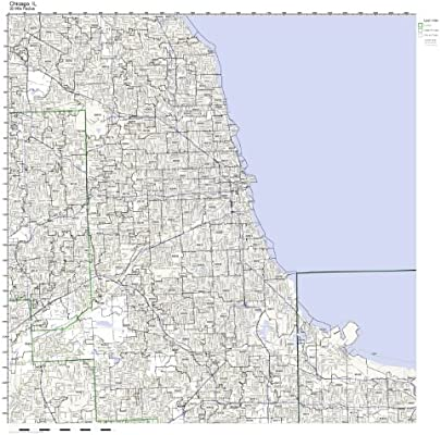 Amazon Com Chicago Il Zip Code Map Not Laminated Home Kitchen