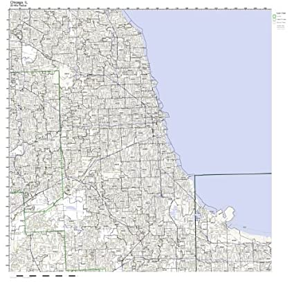 Amazon.com: Chicago, IL ZIP Code Map Laminated: Home & Kitchen