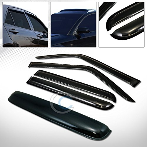 R&L Racing SMOKE SUN SHADE VENT WINDOW VISORS+SUNROOF MOON ROOF GUARD 07-16 JEEP PATRIOT MK