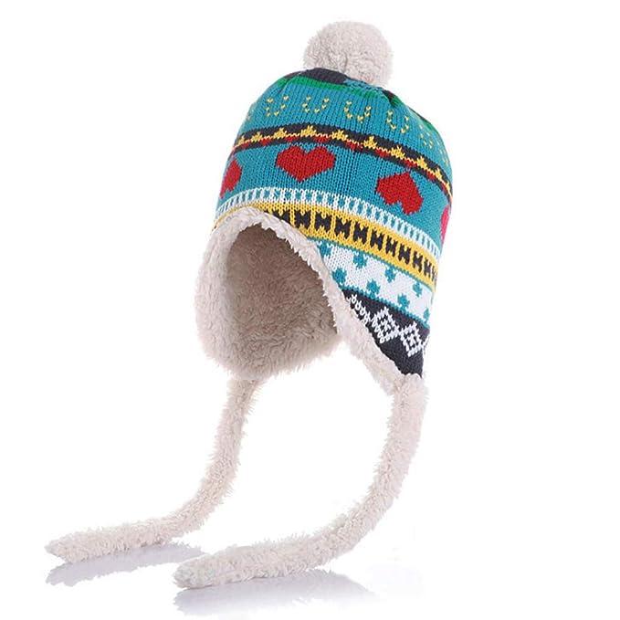 Hifot Bambino Inverno Beanie Cappello Lavorato a Maglia Caldo con  paraorecchie per Bambini Warm Style Warm d8b9dd7c4cf1