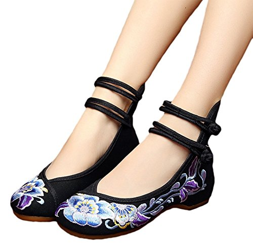 AvaCostume Womens Embroidery Ankle Dancing
