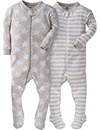 Baby Boys' 2-Pack Footed Unionsuit