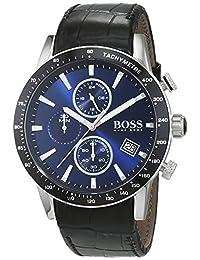Hugo Boss Men's 1513391 Black Leather Analog Quartz Watch