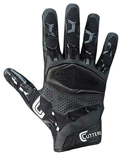 Cutters S541 Rev Pro 3D 2.0 Receiver, Safety, Cornerback Football Gloves with Ultra Sticky C-Tack Grip, Adult Cutters Football Receiver Glove