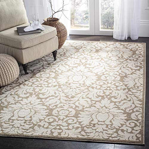 (Safavieh AMT427S-9SQ Amherst Collection Indoor/Outdoor Area Rug, 9' Square, Wheat/Beige)