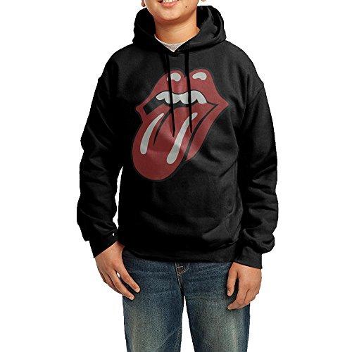 LULU B003AIKE46-Rolling Stones Men's Geek Long Sleeve Sweater L Black