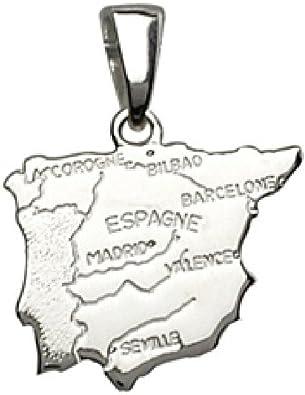 So Chic Joyas - Colgante Mapa España Plata 925: Amazon.es: Joyería