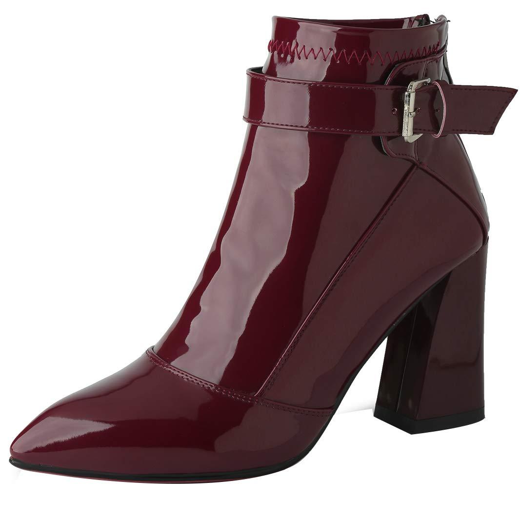 Mavirs Womens Madisl Block Heel Ankle-high 8 cm B07GLTGXNX Boots B07GLTGXNX cm Boots c0e8ad