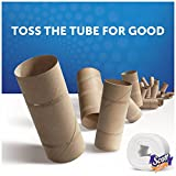 Scott Tissue Tube-Free Toilet Paper, 24 Family Rolls, Sewer-Safe, Septic-Safe, 1-Ply Bath Tissue, No Cardboard Tube, Reduce Waste