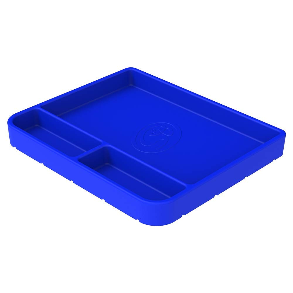 S&B Filters 80-1002M Non-Slip Flexible Silicone Tool Tray (Medium, Blue)