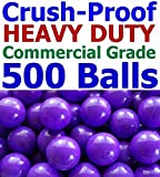 My Balls Pack of 500 Jumbo 3'' Purple Color Commercial Grade Ball Pit Balls - Air-filled Crush-Proof in 5 Colors Phthalate Free BPA Free PVC Free