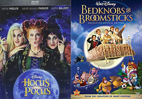 Disney Family Magical Witchy Halloween 2-DVD Bundle - Hocus Pocus & Bedknobs and Broomsticks 2-Movie Collection -