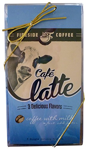 Fireside Coffee Gourmet Coffee Gift Set Café Latte Variety Pack of 3 Coffees