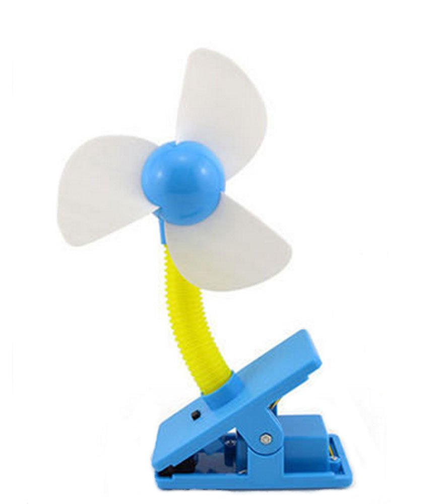 Blancho Noiseless Clip-On Mini Fan, Blue Blancho Bedding