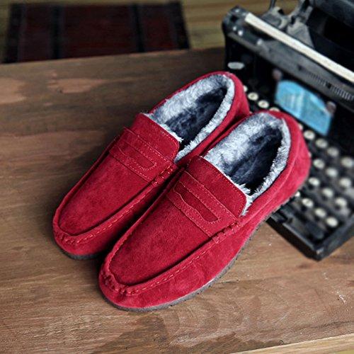 da Inverno Neve Dooxi Foderato Slip Uomo Stivali On Caloroso Fucsia Piatto Barca Comfort Moda Loafers Scarpe q5nCBwOn