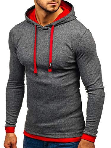 Anthracite Veste Bolf Sweatshirt Mi 1 Capuche Avec À 03 saison Homme 1a1 Style Sportif 5Crq65P