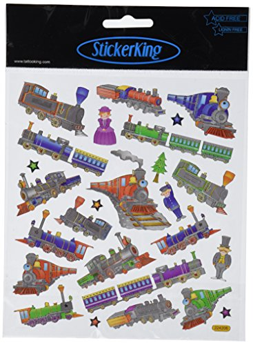 Tattoo King Multi-Colored Stickers-Trains ()