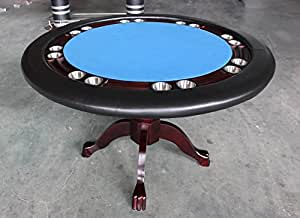 Poker table 52 inch round solid wood 8 player for Table 52 cards