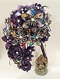 custom comic book - Custom Comic Book Cascading Bouquet of Paper Flowers- You choose Comic & Colors, Free Shipping