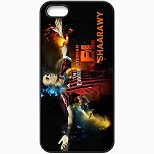 Personalized iPhone 5 5S Cell phone Case/Cover Skin Ac milan el shaarawy Black