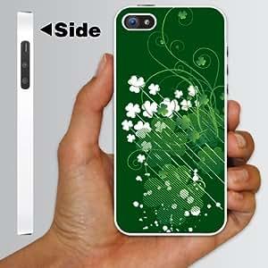 """iPhone 5 Case - St. Patrick's Day Irish Designed """"Shamrock"""" - White Protective Hard Case"""