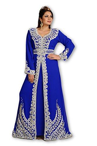 MEHREEN CREATION 2018 Moroccan Arabian Fancy Jalabiya Arabic Islamic Bridal Kaftan Dress 6152 (XL)