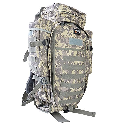 EDTara Waterproof Backpack Oxford Fabric Tactical Bag Shoulder Cloth Package Large Capacity Unisex Multi-functional Camping Bag for Camping Trekking Travel Hunting ACU Color