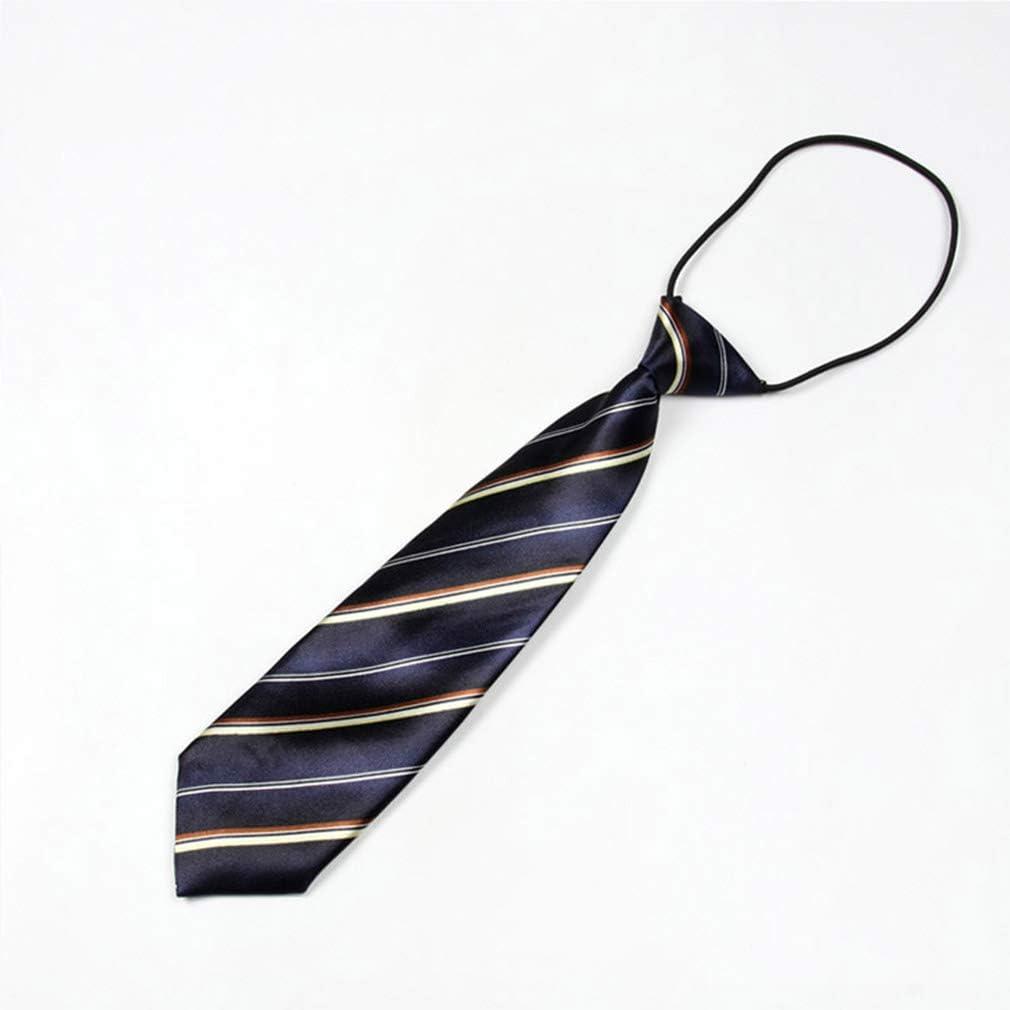 ZHENGLI Versión Coreana de Corbata de Rayas de Seda de poliéster ...