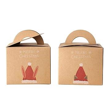 Cajas de regalo de papel kraft de navidad para regalo o caja de caramelos Cajas de