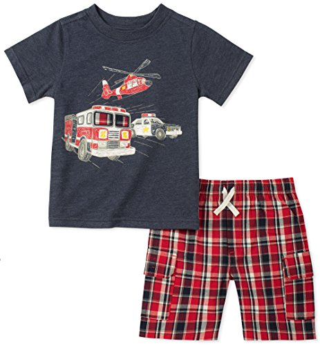 - Kids Headquarters Boys' 2 Pieces Short Set, Navy/red, 6